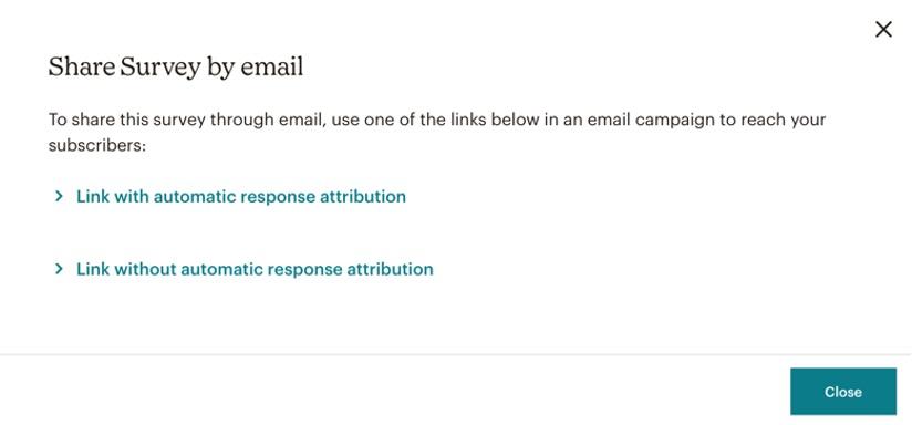 Mailchimp survey